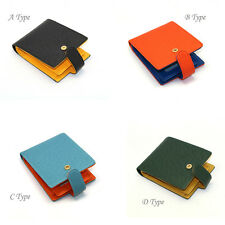New Mens Wallet KOREA -221 Leather Colorful Bifold Clutch Coin Purse Card Holder