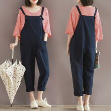 New Plus Size Casual Loose Pants Womens Suspender Harem Jumpsuit Overall Romper