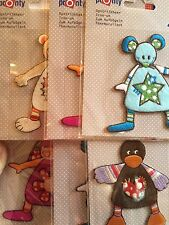 Mouse, Duck, Rabbit, Mouse, Teddy Iron On Or Sew On Embroidered Motif