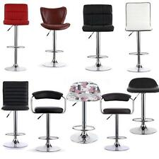 SET OF 2 FAUX LEATHER KITCHEN BREAKFAST BAR STOOL BARSTOOLS PU SWIVEL STOOL S4V7
