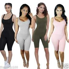 Womens Jumpsuit Backless Condole belt Sleeveless Bandage Sport Bodysuit Rompers