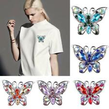 Wedding Bride Rhinestone Crystal Vintage Butterfly Brooch Pin Brooches