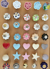 NEW GISELA GRAHAM CERAMIC DRAWER KNOBS DOOR KNOBS DRAWER PULLS HANDLES KNOB