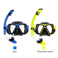 Adult PC Dry Snorkel Set Scuba Swimming Diving Mask Goggles + Snorkeling 3W G6H8
