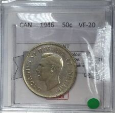 1946 Canadian Fifty Cent Coin Mart Graded,  VF-20