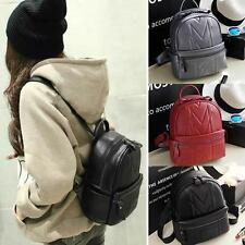 Cute Women's Faux Leather Small Mini Backpack Rucksack Casual Purse Satchel Bags