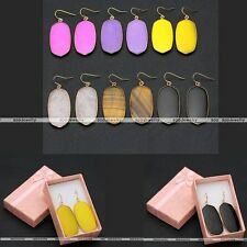 1 Pair Lady Gold Plated Alloy Gem Ball Bead Dangle Hook Eardrop Earring with Box