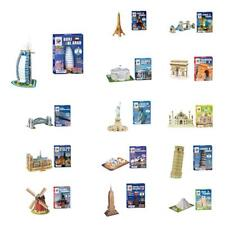 Mini Architecture Model Jigsaw Assorted Educational 3D Puzzle DIY Toy Home Decor