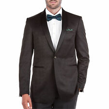 Verno Men's Shawl Collar Black Textured Tuxedo Slim Fit Blazer