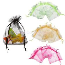 50pcs Butterfly Organza Jewelry Packing Gift Pouch Bags Wedding Party Favour