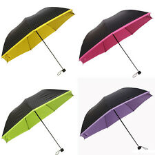 New Women Anti UV Sun Parasol Rain Polka Dot 3 Folding Creative Umbrella Hot