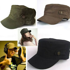 Mens Women Fashion Army Military Cotton Adjustable Cadet Sun Hat Cadet Sport Cap