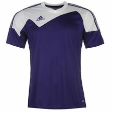 adidas Mens Toque Training Jersey Running Short Sleeve V Neck Sports Top