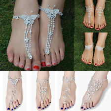 Bridal Foot Jewelry Toe Ring Crystal Rhinestone Chain Ankle Bracelet Sexy Anklet