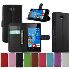 Retro Flip Magnetic PU Leather Wallet Stand Case For Nokia Microsoft Lumia 650