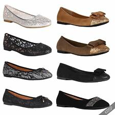 Womens Glitter Mesh Ballerina Shoes Lace Slip On Ballet Dolly Pumps Flats USA