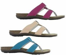 Womens Coolers Leather Open Toe Post Slip On Summer Beach Holiday Sandals Shoes