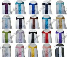 """6"""" x 108"""" Satin Chair Cover Sash Bow Wedding Party Banquet Dinner Party Decor"""