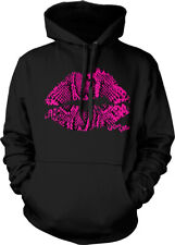 Lips Pink Animal Print Kiss Me Sexy Lipstick Sexual Hoodie Pullover
