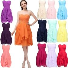 Wedding Party Short Bridesmaid Dresses Chiffon Evening Prom Graduation Gown New