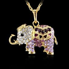 Elephant Crystal Rhinestone Pendant Long Necklace Sweater Chain Good Gifts Hot