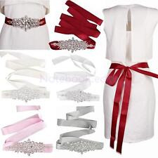 Crystal Rhinestone Waistband Diamante Belt Wedding Bridal Dress Sash Vary Ribbon