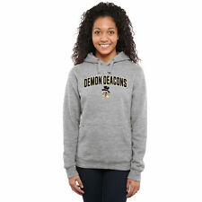 Wake Forest Demon Deacons Women's Proud Mascot Pullover Hoodie - Ash - NCAA