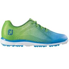 FootJoy Womens emPOWER Closeout Golf Shoes 98001 – Lime Green/Light Blue  – New