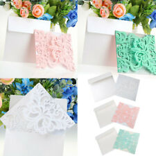 Romantic 10pcs Floral Wedding Banquet Invitation Cards Laser Cut Greeting Cards