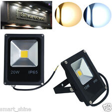 Slim 10W 20W LED Flood Light Outdoor Landscape Garden Lamp Floodlight Waterproof