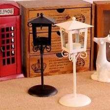 Black White Vintage Street Lamp Retro Candle Holder Tealight Candlestick Stand