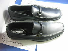 NEW  Rockport APM11801 BROCKFIELD LEATHER LOAFERS BAREFOOT STYLE ADIPRENE TECH