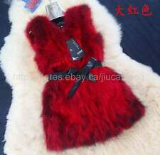 New 100% Real Raccoon Fur Vest Coat/Jacket Outwea Women's Clothing luxurious