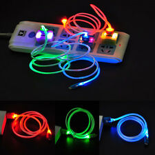 LED Visible Light Micro USB Charge Charging Data Sync Cable For Android Samsung