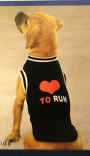 Casual Canine LOVE TO RUN Mesh Dog Jersey BLACK BLUE PINK HURRY CLEARANCE