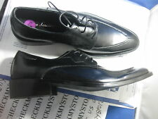 NEW TONINO LAMBORGHINI OXFORD  ITALIAN  DRESS SHOES  BLACK LEATHER  HANDMAD
