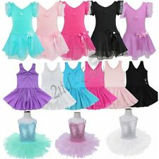 Girls Gymnastic Ballet Dress Leotard Princess Tutu Skirt Dancewear Fancy Costume