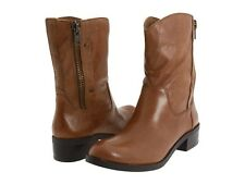 new  JESSICA SIMPSON TOOTS LEATHER DESIGNER BOOTS SIDE ZIPPER BLACK OR TAN COLOR
