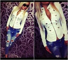 NEW Fashion Women Long Sleeve Bodycon Casual zipper Jacket Coat double-breasted