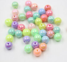 50-200Pcs Candy AB Color Acrylic Spacer Beads Charms Making Jewelry 6mm 8mm 10mm