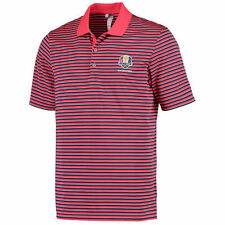 2016 Ryder Cup adidas Performance 3-Color Stripe Polo - Red/Blue - Golf