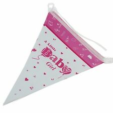 birthday boy gril blue pink flag Triangle flag Party Holographic Flag Bunting