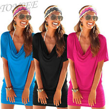 Women's Summer Casual Short Sleeve Party Evening Cocktail Party Short Mini Dress