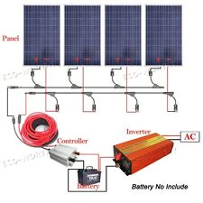 200W 300W 400W 800W Off Grid System 100W Solar Panel w/1KW-3KW Inverter for Home