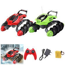 Electric Amphibious RC Car Land Water Remote Control 6CH Tank Car Toy Gifts
