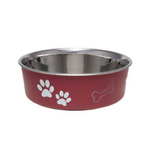 Loving Pets BELLA BOWL  Stainless Steel LARGE Dog Feeder Bowl 5 COLOR CHOICES