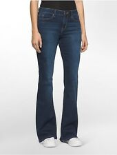 calvin klein womens flared medium wash jeans