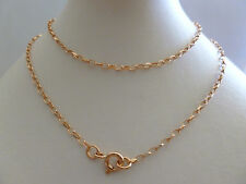 9ct 9k Solid Rose Gold Diamond Cut Belcher Chain Necklace, 2mm, N147 CUSTOM