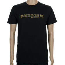 SP Patagonia Mens 73 Text Logo T-Shirt Black Brown skate