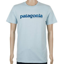 SP Patagonia Mens 73 Text Logo T-Shirt Dusk Blue skate
